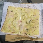 Potato pizza at Bourke Street Bakery, Alexandria