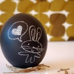 A Sydney artist turns easter eggs into portable chalkboards