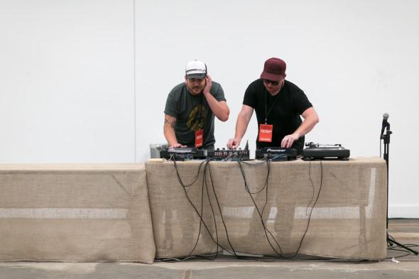 DJ James Hird and Mike Bennie